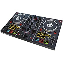Numark Party Mix Two-Channel Starter DJ Controller with Built-In Sound Card, Light Show