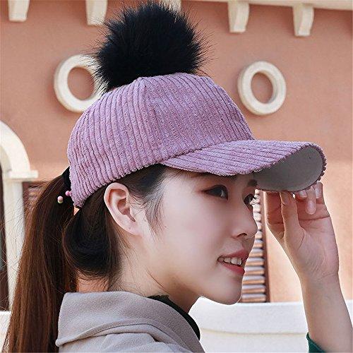 ef69901720e BTBTAV Hat Cap zhamao Velours Corail Boule de Cheveux Mignon Chapeau  Baseball Cap équitation Hat Chapeau