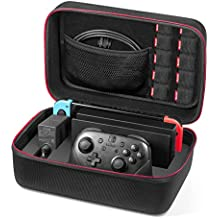 Etui pour Nintendo Switch - Younik Deluxe housse de transport à coque rigide pour Console Switch, Switch Dock, adaptateur secteur, câble HDMI, Manette Pro et 10 cartouches de jeu