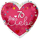 Alles Liebe 70 Ø 45cm | 70. Geburtstag Folienballon | Ballongas Geeignet