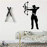 zzlfn3lv Armbrust Bogenschütze Bogenschießen Wandaufkleber Bogenschießen Boy Home Decor Für Kinder Baby Room Selbstklebende Vinyl Kunst Decals tapete 42 * 68 cm