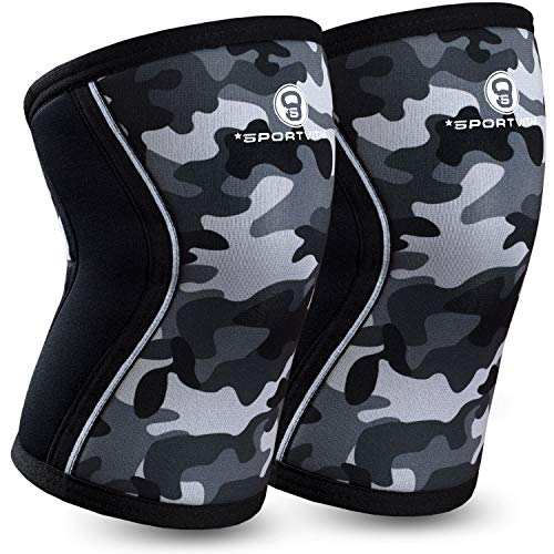 Sportvitae®️ Premium Kniebandage/Knie Ärmel (1 Paar) 7 mm Neopren Knee Sleeves Unterstützung & Kompression für Crossfit, Gewichtheben, Joggen und allgemeinen Sport & Fitness Für Männer & Frauen -