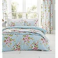 Catherine Lansfield Juego de funda de edredón y fundas de almohada para cama de matrimonio grande, multicolor