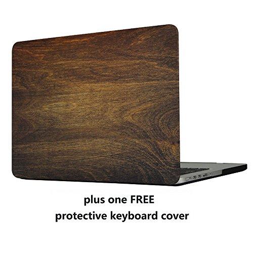 MacBook Pro 13Fall Cover-treasure21Slim Fit Smart Schutz Weiche Gummi Beschichtung Glatte Bessere Griffigkeit Hard Case Shell Cover für MacBook Pro 13A1278, Holz Clip Hard Case Cover