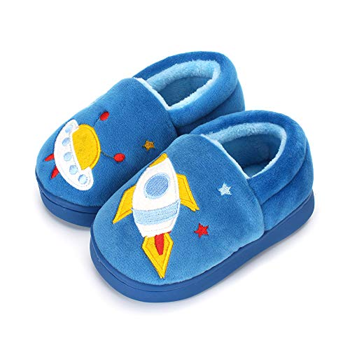 LACOFIA Boys Girls Winter Slippers Children Novelty Slipper Warm Plush Indoor Shoes for Toddlers/Kids