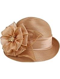 Mujer Sombrero Sombrero del Sol del Verano Sombrero del Sol al Aire  Libre Corea Flor de Sombreros Sombrero de la… ee40327be0d