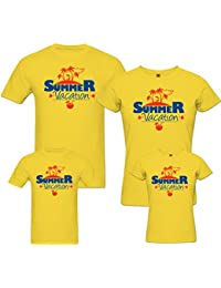 PepperClub Family Tshirt - Summer Vacation - Set of 4 For Mom Dad and Kids