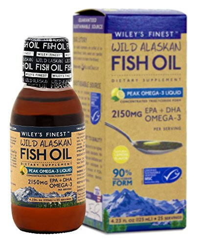 Wileys Finest - Wild Alaskan Fish Oil Peak Omega 3 Lemon, 2150 mg, 4.23 fl oz liquid Liquid Fish Oil Omega 3
