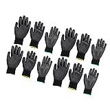 MagiDeal 6 Paar Arbeitshandschuhe Fünffingerhandschuhe Sicherheits Handschuhe für Gartenbau - S + M + L
