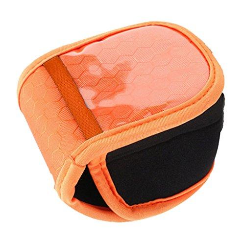 MagiDeal 1 Stk. Spinnrad Angeln Baitcast Rollen Tasche Schutz Hülle - - Orange