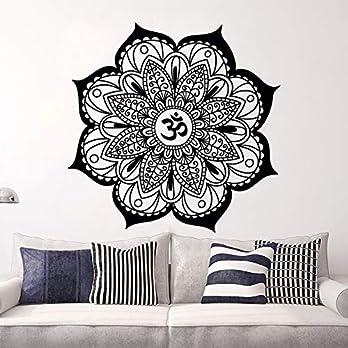 Mandala Wandtattoo   Mandala Lotus Blumendekor   Mehndi Wandaufkleber   Yoga Studio Aufkleber   Hergestellt in Polen   Oracal   Boho indisches Schlafzimmer   Mandala böhmische Wandkunst   MN1071