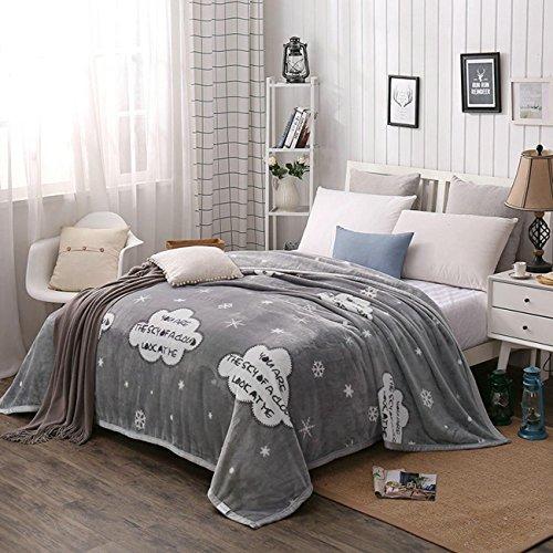 Raschel Bett Decke Mikrofaser Solid Fleece Kuscheln Couch Gemütlichen Warmen Glatte Hochzeit Geburtstag Geschenk Decke Blätter , c , 180*200cm