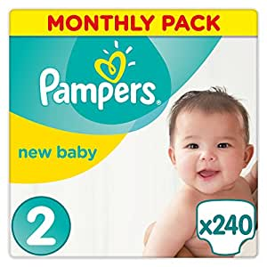 Pampers New Baby Premium Protection, 240 Pannolini, Taglia 2 (3-6 kg)