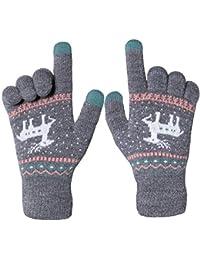 Chalier Touchscreen Handschuhe Damen Winterhandschuhe Frauen Fäustlinge Winter Warme Damenhandschuhe mit Fleecefutter MEHRWEG