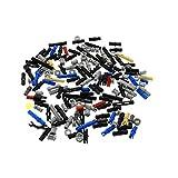 100 Technic Teile z.B. Pin Stopper Stecker Kreuz Stange Achse Kreuzloch Verbinder Bush kg Technik Steine zufällig gemischt