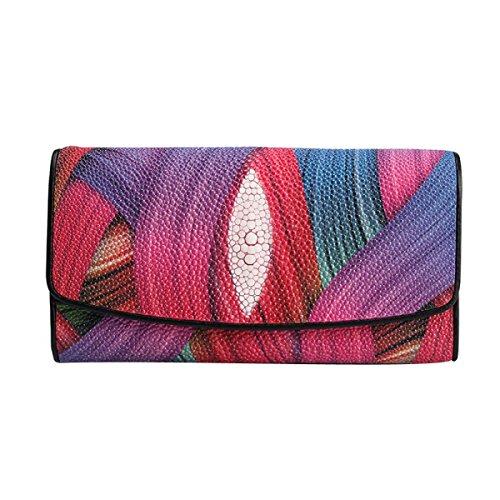 Damen Perle Fisch Geprägt Große Kapazität Lange Brieftasche Kupplung Brieftasche,Style1 (Brieftasche Kupplung)
