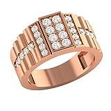 Demira Jewels 9k (375) Rose Gold and Diamond Ring