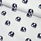 MAGAM-Stoffe Enno Elefanten Jersey Stoff Kinderstoff Glitzer Oeko-Tex Meterware 50cm