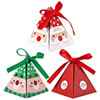 Toyvian 30pcs Christmas paper boxes party gift treats candy chocolate candy boxes