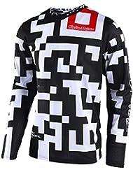 Camiseta De Mx Niño Troy Lee Designs 2018 Gp Air Maze Blanco-Negro (L Niño , Blanco)