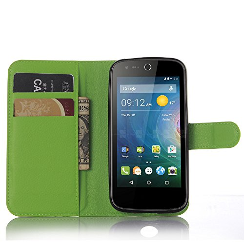 Easbuy Pu Leder Kunstleder Flip Cover Tasche Handyhülle Case Mit Karte Slot Design Hülle Etui für Acer Liquid Z330 / M330 Smartphone Handytasche