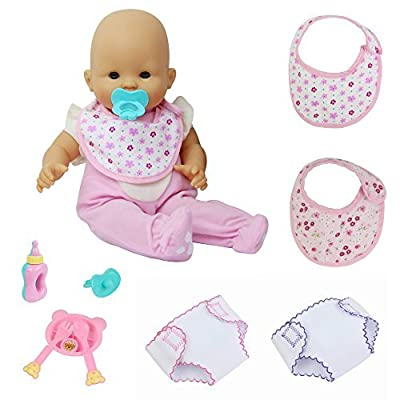 "ZITA ELEMENT Fashion Clothes & Accesories for Baby Doll, 18 Inch American Girl Doll and other 14 - 18"" (35 - 46cm) Dolls Outfits 