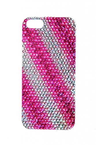 Lux accessori iPhone 5 5S fucsia viola rosa pattern adesivo strass