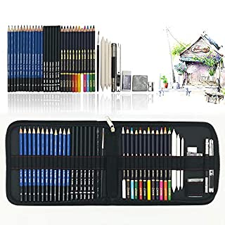 Drawing Pencils for Artists, 41PC Art Colouring Pencils, Sketch Pencils Set with Drawing Tool in Personalized Big Pencil Case, Best Gift for Students
