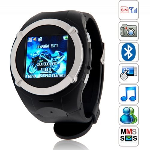 Flylinktech® Fashion MQ998 Handyuhr Armbanduhr Uhrhandy Armbandhandy Smartwatch 1.5 Zoll Touchscreen Mit Bluetooth MP3