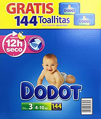 Dodot - Pañales para bebé, talla 3, 144 pañales