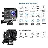 Victure Action Cam 4K Wifi 170° Weitwinkel Wasserdicht 40M Unterwasserkamera 20MP Ultra Full HD - 2