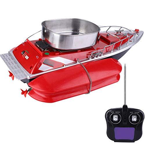 Alomejor Fernbedienung Fischerboot 220V Fischköder Finder Boot mit Verstellbaren Köder Lichter für Nachtangeln(EU) -