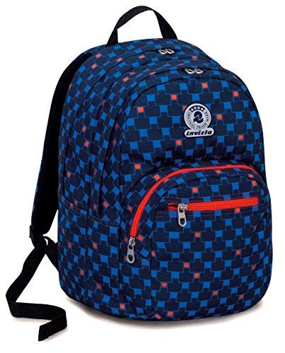 d58ee33ffb Zaino format invicta , check , blu rosso , 31 lt , doppio scomparto , scuola