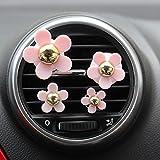 YLLY Creative Gänseblümchen Air Outlet duftende Parfüm Clip Lufterfrischer Diffusor, Legierung, Pink and Gold, 4x4cm