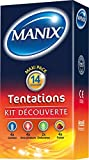 MANIX tentations préservatifs kit découverte - pack de 14