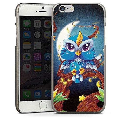 Apple iPhone 4 Housse Étui Silicone Coque Protection Dessin Forêt Hibou CasDur anthracite clair