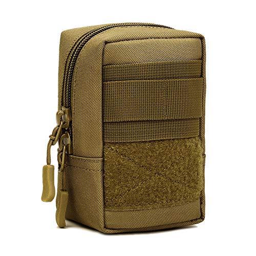 Selighting Molle Klein Tasche Taktische Gürtel Tasche Beutel Wasserdicht EDC Zubehörtasche für Handy Werkzeug Erste-Hilfe-Medizin (Braun)