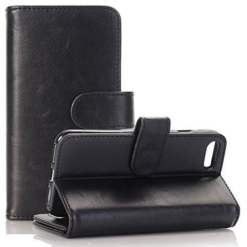 Echt Leder Buch Tasche (Galaxy S7 Wallet Lederhülle, TechCode® Kartenfächer Premium PU Leder Flip Folio Wallet Case Tasche Etui Hülle für Apple Samsung Galaxy S7 (S7, A01))