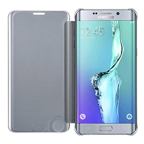 Samsung Galaxy S6 edge+ Case S-View Clear Flip Cover (Silver)