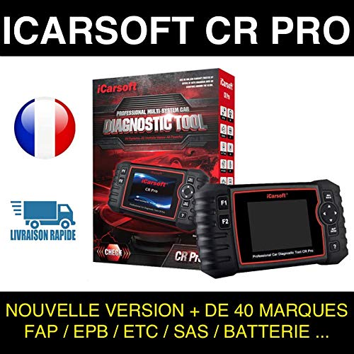 Valise Diagnostic Auto MULTIMARQUE OBD2 100% Francais ICARSOFT CR Pro