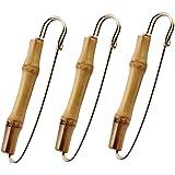 Fenical 3 pezzi d'epoca di bambù sicurezza spilla maglione spilla fermacravatta clip costume gioielli per uomo donna
