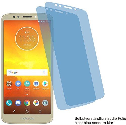 4ProTec 2X Crystal Clear klar Schutzfolie für Motorola Moto E5 Bildschirmschutzfolie Displayschutzfolie Schutzhülle Bildschirmschutz Bildschirmfolie Folie