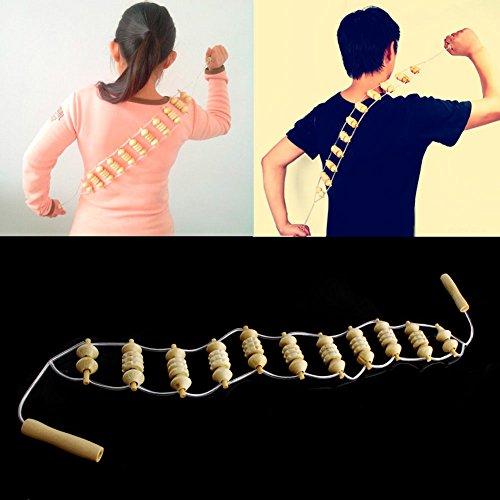 dairyshop beige Holz Rad Körper Zurück Taille Hals Care Roller bequem Massagegerät Care