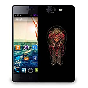 Snoogg Red DevilDesigner Protective Back Case Cover For Micromax Canvas Knight A350