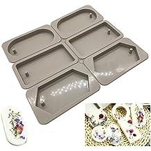 Moldes de silicona para hacer joyas artesanas de resina, con orificio Oval dimand Square