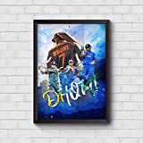#8: Motivate Box India, Cool, Trendy, Quirky Rolled Posters,M.S Dhoni Collage Design, Add Some Quirkiness to Your Walls (12 x 18 in), Wall Frames are not Included - Only Posters