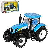 alles-meine.de GmbH New Holland Traktor T7040 Landwirtschaft Blau 1/32 Bburago Modell Auto mit individiuellem Wunschkennzeichen