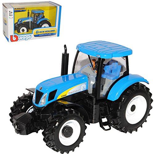 Bburago New Holland Traktor T7040 Landwirtschaft Blau 1/32 Modell Auto