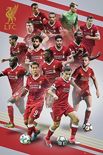 Liverpool FC 17-18 Maxi Poster 61 x 91,5 cm (Liverpool Gerrard-player)