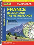 Philip's Road Atlas France, Belgium and The Netherlands: Spiral A5